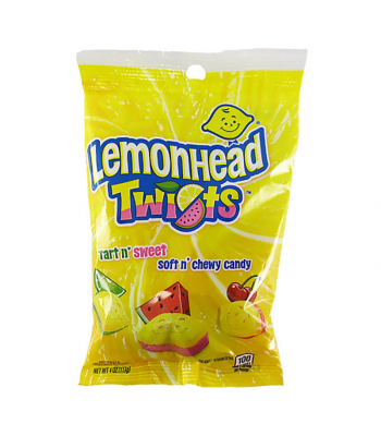 Lemonhead Twists - 4oz (113g) Sweets and Candy Ferrara
