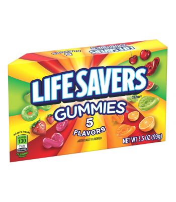 Life Savers Gummies 5 Flavours Theatre Box 3.5oz (99g) Sweets and Candy Life Savers