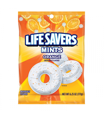 Life Savers - Orange Mints Peg Bag - 6.25oz (177g) Hard Candy Life Savers