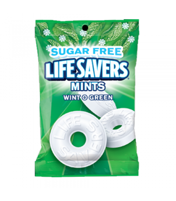 Lifesavers - Wintogreen Flavour Peg Bag SUGAR FREE - 2.75oz (78g)