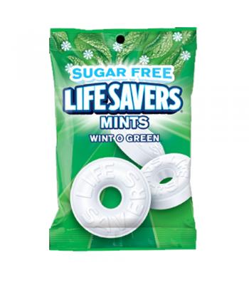 Lifesavers - Wintogreen Flavour Peg Bag SUGAR FREE - 2.75oz (78g)