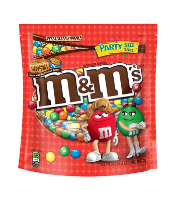M&M's - Peanut Butter Party Size Bag - 38oz (1.077kg) Chocolate, Bars & Treats M&M's