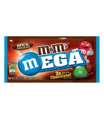 Clearance Special - M&M's Milk Chocolate MEGA 1.48oz (42g) ** Best Before: April 2017 ** Clearance Zone