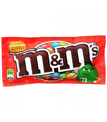 M&M's Peanut Butter 1.63oz (46.2g) Chocolate, Bars & Treats M&M's