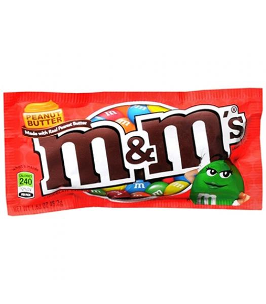 M&M's Peanut Butter 1.63oz (46.2g) Chocolate, Bars & Treats M&M's