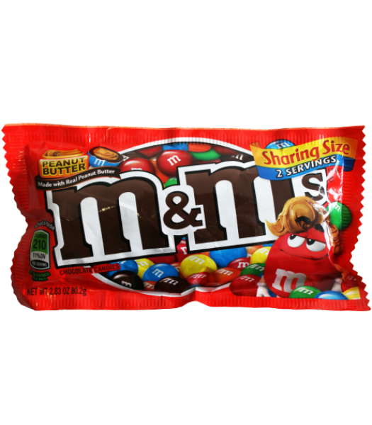 M&M's Peanut Butter SHARE SIZE 2.83oz (80g) Chocolate, Bars & Treats M&M's
