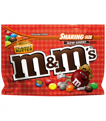M&M's - Peanut Butter - Sharing Pouch 9.6oz Chocolate, Bars & Treats M&M's