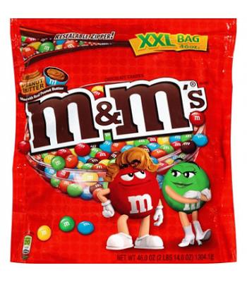 M&M's Peanut Butter HUGE bag 50oz XXL (1.417kg) Chocolate, Bars & Treats M&M's