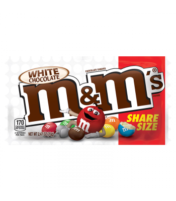 M&M's White Chocolate Share Size - 2.47oz (70g) Sweets and Candy M&M's