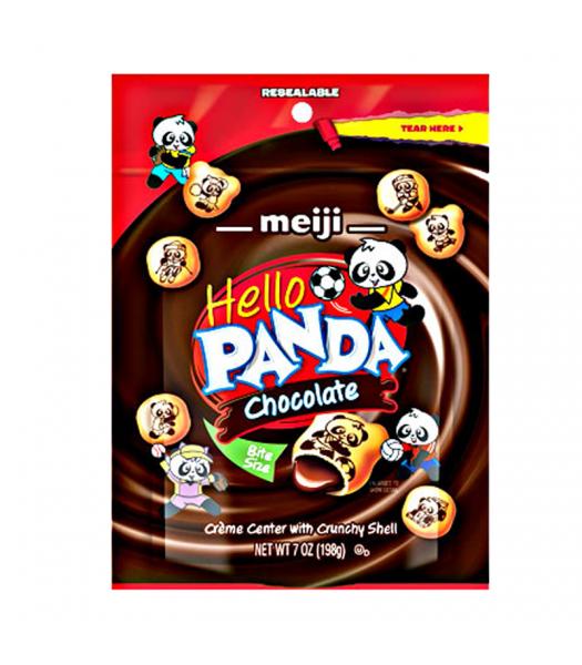 Meiji Hello Panda Chocolate Pouch 7oz (198g) Cookies and Cakes Meiji
