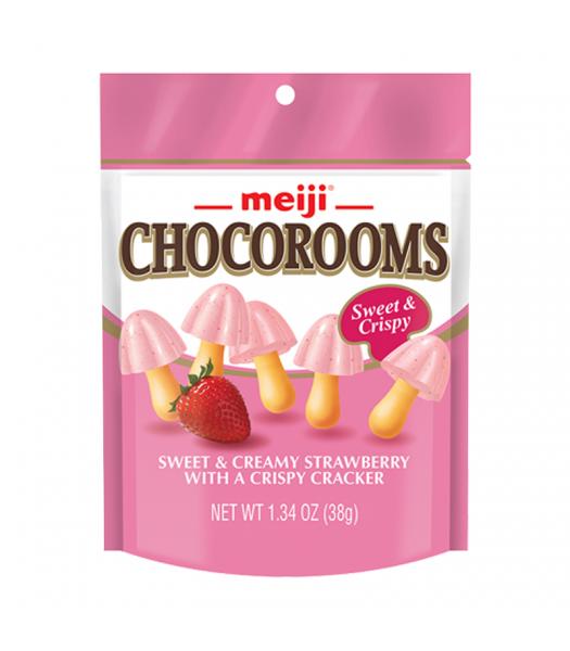 Meiji Chocorooms Strawberry 1.34oz (38g) Sweets and Candy Meiji