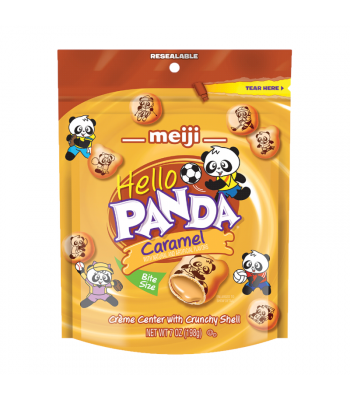 Meiji Hello Panda Caramel Pouch - 7oz (198g) Cookies and Cakes Meiji