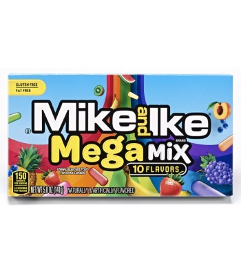Mike & Ike - Mega Mix Theatre Box 5oz (141g) Soft Candy Mike and Ike