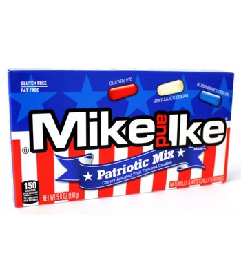 Mike and Ike Patriotic Mix Theatre Box 5oz (142g) Soft Candy Mike and Ike