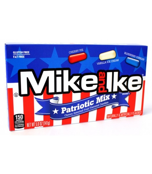 Mike & Ike - Patriotic Mix Theatre Box 5oz (142g) Sweets and Candy Mike and Ike