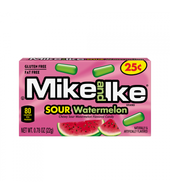 Mike & Ike Sour Watermelon - 0.78oz (22g) Sweets and Candy Mike and Ike