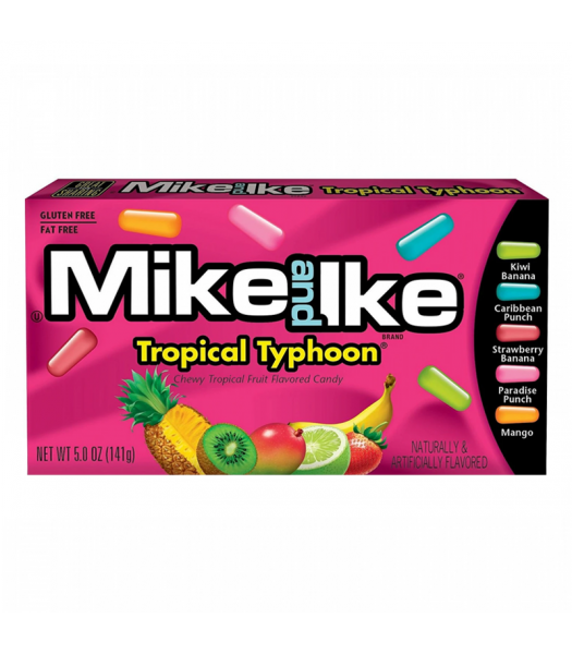 Mike & Ike - Tropical Typhoon Theatre Box - 5oz (141g) Soft Candy Mike and Ike
