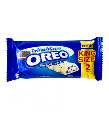 Oreo Cookies & Creme Chocolate King Size Candy Bar - 2.88oz (82g) Sweets and Candy