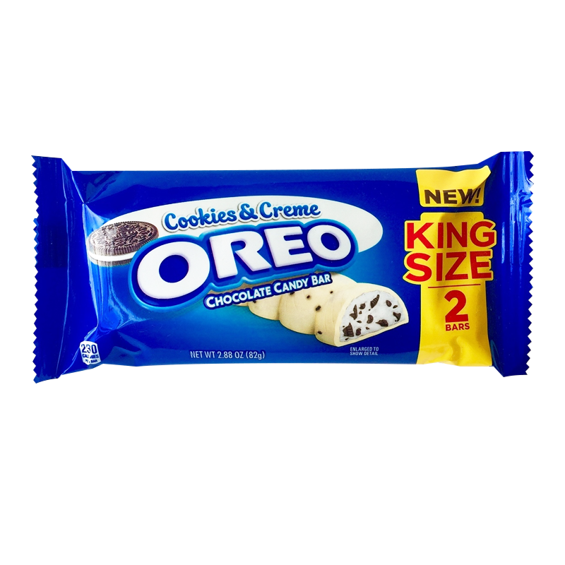 Oreo Cookies Creme Chocolate King Size Candy Bar 288oz 82g