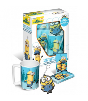 Minions - Chocolate Bar, Mug & Key Ring Gift Set