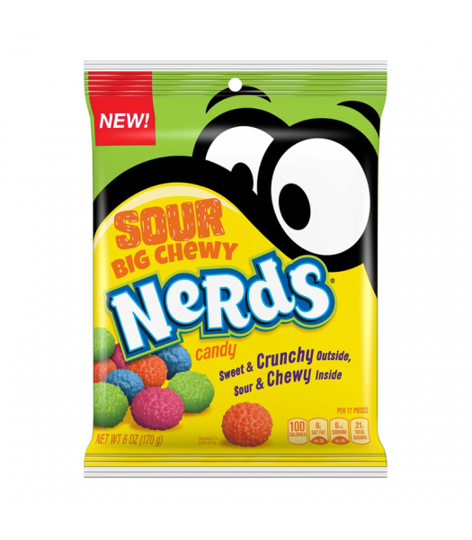 Nerds Sour Big Chewy Peg Bag - 6oz (170g) Sweets and Candy Nestle