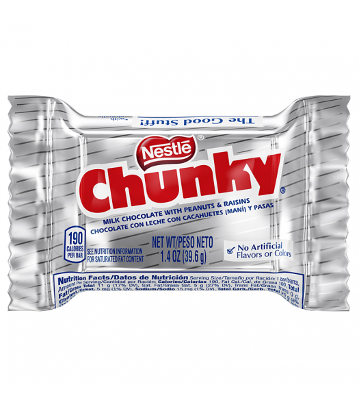 Nestle Chunky Bar 1.4oz (39.6g) Chocolate, Bars & Treats Nestle