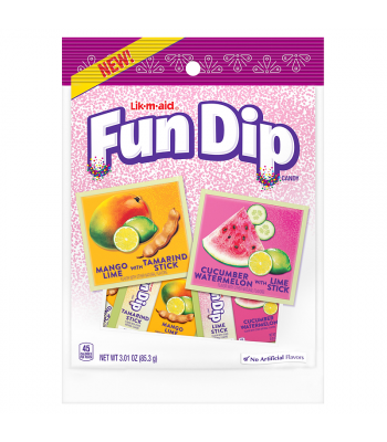 Fun Dip - Dulceria Lik-M-Aid Tropical - 3.01oz (85.3g) Soft Candy Nestle