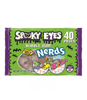 Spooky Eyes Bubblegum Filled with Nerds 40-Piece - 13.1oz (371g) Sweets and Candy Nestle