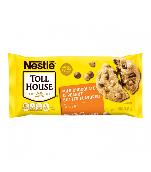 Nestle Toll House Peanut Butter & Milk Chocolate Morsels 11oz (311g) Food and Groceries Nestle