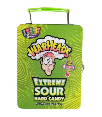 Warheads Extreme Sour Hard Candy Lunchbox - 4.4oz (124g) Novelty Candy Warheads