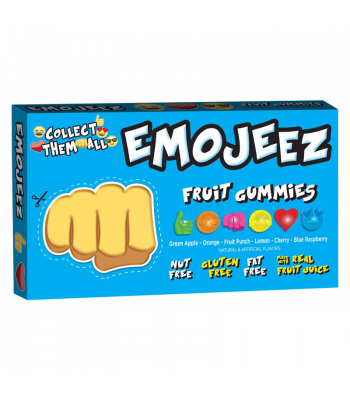 Emojeez - Fist Bump Emoji - Gummy Candy Theatre Box - 3.5oz (99g) Soft Candy