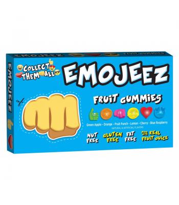 Emojeez - Fist Bump Emoji - Gummy Candy Theatre Box - 3.5oz (99g) Soft Candy