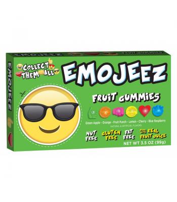 Emojeez - Sunglasses Emoji - Gummy Candy Theatre Box - 3.5oz (99g) Soft Candy