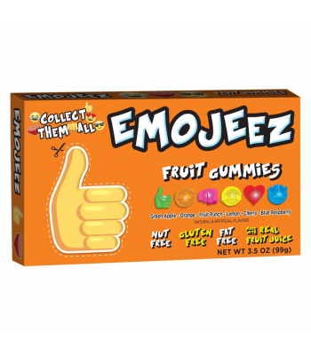 Emojeez - Thumbs Up Emoji - Gummy Candy Theatre Box - 3.5oz (99g) Soft Candy