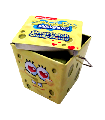 SpongeBob Great Catch Hearts Sours 1.5oz  (43g) Tin Sweets and Candy