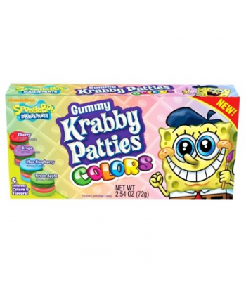 Spongebob Squarepants Gummy Krabby Patties Colors 2.54oz (72g) Soft Candy
