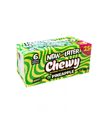 Now & Later 6 Piece CHEWY Pineapple Candy 0.93oz (26g) Soft Candy Now & Later