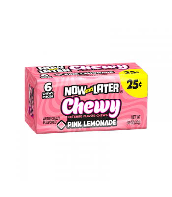 Now & Later 6 Piece CHEWY Pink Lemonade Candy 0.93oz (26g)