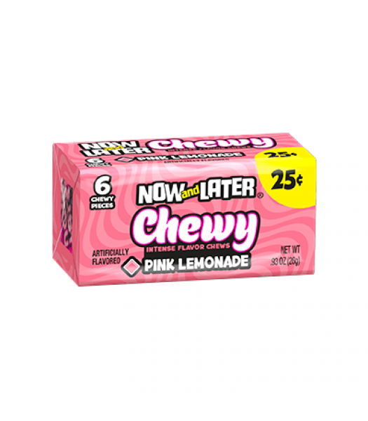 Now & Later 6 Piece CHEWY Pink Lemonade Candy 0.93oz (26g) Soft Candy Now & Later
