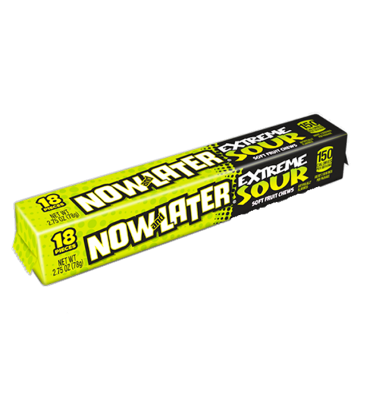 Now & Later EXTREME Sour 2.75oz (78g) Soft Candy Now & Later