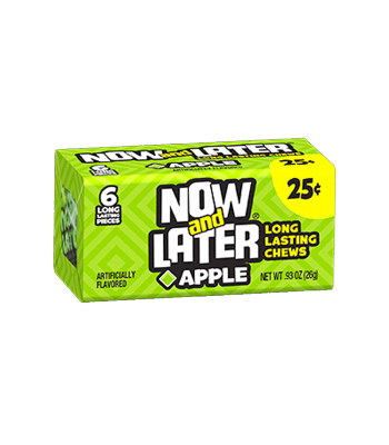 Now & Later 6 Piece Apple Candy 0.93oz (26g) Soft Candy Now & Later