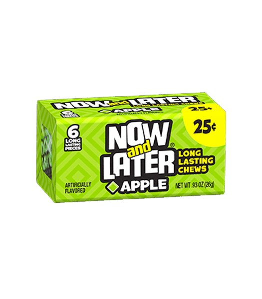 Now & Later 6 Piece CHEWY Apple Candy 0.93oz (26g) Soft Candy Now & Later