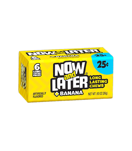Now & Later 6 Piece Banana Candy 0.93oz (26g) Soft Candy Now & Later