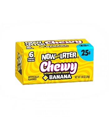 Now & Later 6 Piece CHEWY Banana Candy 0.93oz (26g) Soft Candy Now & Later