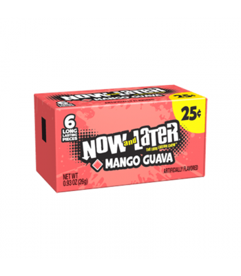 Now & Later 6 Piece Limited Edition Mango Guava Candy - 0.93oz (26g) Soft Candy Now & Later
