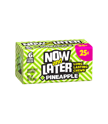 Now & Later 6 Piece Pineapple Candy 0.93oz (26g) Soft Candy Now & Later
