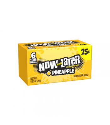 Now & Later 6 Piece Pineapple Candy 0.93oz (26g) Sweets and Candy Now & Later