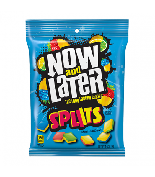Now & Later Splits Mixed Fruit Chews - 4oz (113g) Sweets and Candy Now & Later