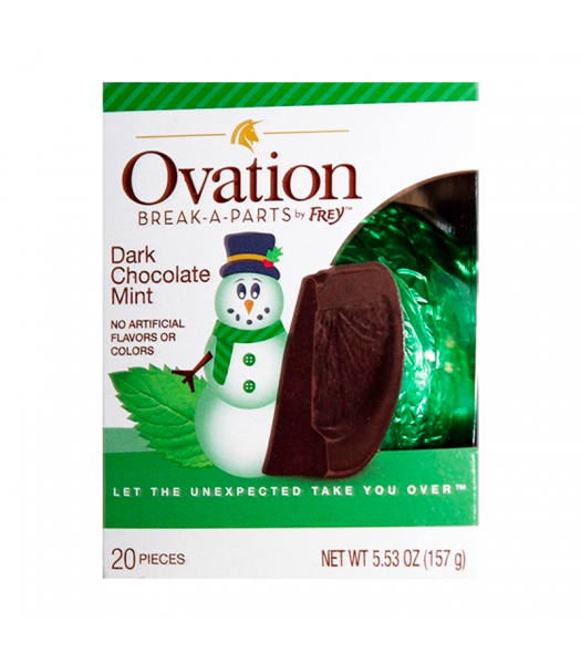 Ovation Break-A-Parts Mint-Filled Dark Chocolate - 5.53oz (156g) Sweets and Candy