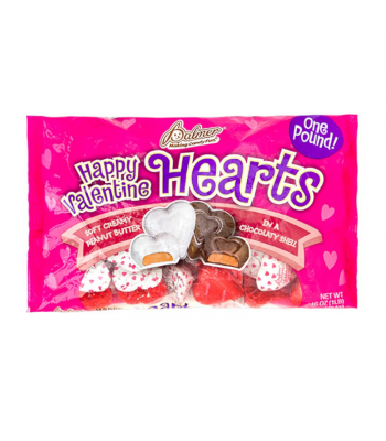 Palmer's Assorted Peanut Butter Hearts - 16oz (453g) Sweets and Candy
